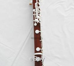 Clé En Bois Rose Professional Matériel Oboe Plaqué Argent C Marque Bois Neuf Cas