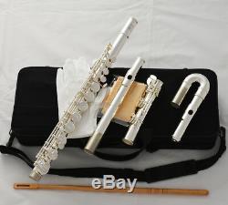 Clé G Professionnelle Flûte Alto Plaquée Argent Avec Tête Droite Jonts + Étui