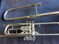 Clôture Trombone Conn Valve Bell Gravé Bell Wold Wash Bell