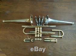 Combi Plaqué Or Stomvi Elite Trompette W Plaqué Or Et Argent Plaqué Bells