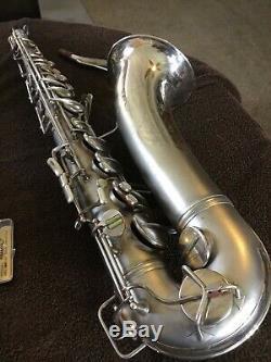 Conn 10m Saxophone Ténor En Satin Silver