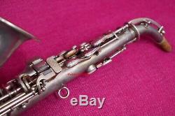 Conn 1926 New Wonder II Chu Berry Bb Soprano, Courbé, Argent # 185k