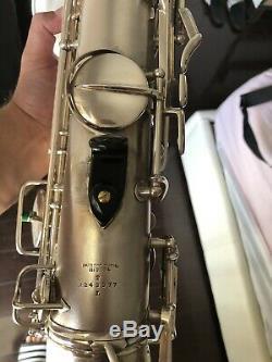 Conn 1930 Art Deco, New Wonder II Chu Berry Tenor Saxophone Avec De L'or De Bell