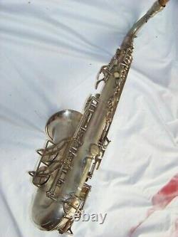Conn 6m VIII Argent / Or Saxophone -rth, Vg Resopads / Tres Bon Etat