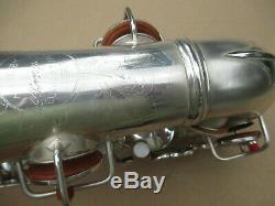 Conn Argent Eb Saxophone Circa 1928 Exceptionnellement Nice Orgl Cond