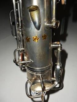 Conn Argent Plaqué C Melody Saxophone # 112166