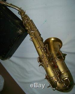 Conn Chu New W. 2 Dore Saxophone Origplating / Origcase Xclnt Condition