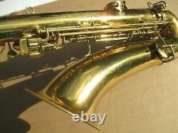Conn Chu-berry Bb Saxophone Circa 1928 Ne Joue Pas De Vente En L'etat