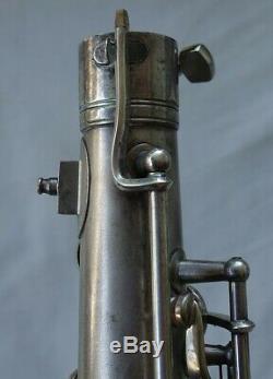 Conn New Wonder II 1926 Saxophone Ténor, Plaque D'argent, Récemment Rénové