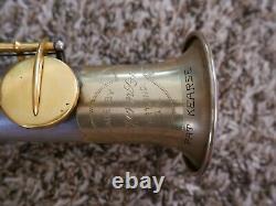 Conn New Wonder II Bb Soprano Saxophone 1929 Silver Plate Gold Plaqué Touches 226k