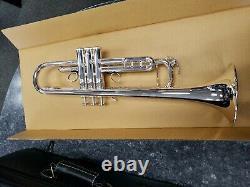 Démo Pro. Argent Yamaha Xeno Trompette En Si Bémol Plaqué Inverse Ytr8335rsii Branche D'embouchure