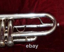 F. E. Olds Custom Crafted Modèle Bb Trompette Avec Boîtier Argenté. #848216
