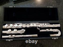 Flûte Alto Inutilisée, Plaqué Argent, Tête Droite Et Incurvée