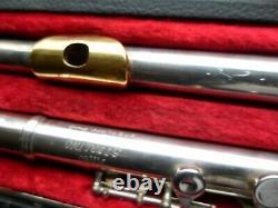 Flûte King Sterling Argent Pro Avec Embout En Or 24k (217447). 14,7 Oz