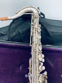 Frank Holton Ténor Argent Saxophone Belles Gravures Accessoires Originaux