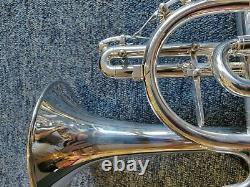 Genève Symphony Cornet Silver Plate (instrument Remis À Neuf)