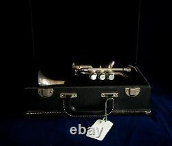 Getzen Capri Piccolo Trompette Avec Case Et Bb Et A Leadpipes, Silver Plaqué