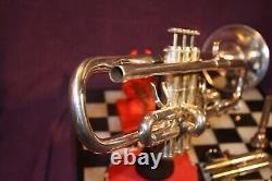 Getzen Eterna C/bb Trumpet Silverplated Avec Embout Buccal Et Étui