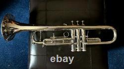Getzen Severinsen Eterna Silver Plaqué Bb Trumpet 1973 1er Trigger, Case, Mp