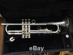 Impressionnant Player M Ferguson Holton St 302 Trumpet Argent Lbore Orig Case Bach Mpc