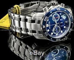 Invicta 48mm Pro Scuba Diver Chronographe Cadran Bleu En Acier Inoxydable 200mt Montre