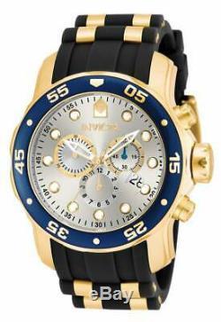 Invicta Montre Homme Pro Scuba Diver Chronographe Cadran Argent Bracelet Caoutchouc 17880