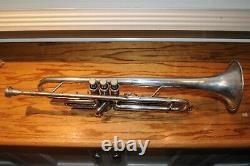 Jerome Callet New York Trompette D'argent Pièce De Bouche En Laiton Du Canada Instrument Musical
