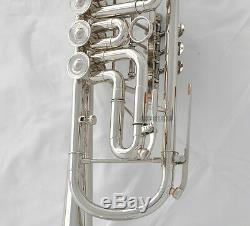 Jinbao Professional Valves Rotatives Trompette Argent Plaqué Nickel B-corne Neuf