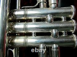 Jupiter Xo Modèle 1602s Trompette Argent Assiette Avechard Tan Tweed Case Witho Bouche Pc