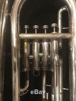 King 2280 Eubonium 4-valve Bb Réparé Et Testé