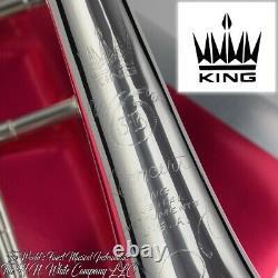 King 3b Concert Trombone De Tenor Avec Pièce Jointe Argent Plaque Knockout
