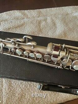 King H. N. Blanc Co Soprano Saxophone Nr 106xxx En Argent Grand Jeu Cond