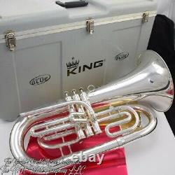 King System Blue Marching Euphonium Finition Originale De La Bombe
