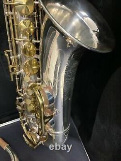 King Zephyr Tenor Saxophone Argent Plaqué Rebordé #466174