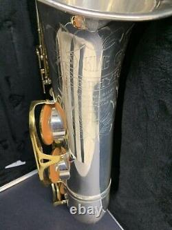 King Zephyr Ténor Saxophone Argent Plaqué Révisé