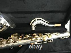 King Zephyr Tenor Saxophone Silver Plaqué Remanié Nouveau Cas