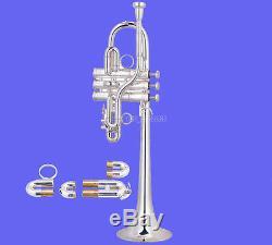 Klaxon Valves Monel Trompette Eb / D Argent Professionnel Avec Etui
