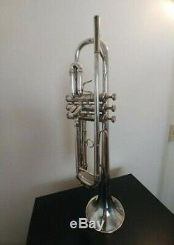 Los Angeles Benge Resno Trempé Argent Plaqué Trompette 1975 Sn 141xx