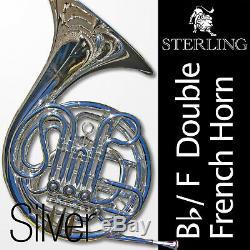 Métal Argenté Bb / F Double Français Horn Sterling Pro Qualité Marque Nouveau