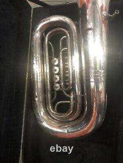 Miraphone 186 4u 4/4 Bbb Tuba Plaqué Argent