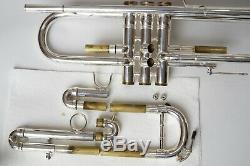 Modèle Plaqué Argent Kanstul 1000 Bb Chicago Trompette Près État D'usine