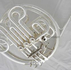 Modèle Professionnel 103 Argent Plaqué Double Corne Française F/bb Tone Avec Boîtier