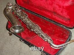 Modèle Selmer 1922 Alto Sax/saxophone, Argent D'origine, Joue Grand