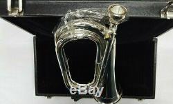 New Professional Armée Bb Bugle Argent Plaqué Tune Mesure / Militaire Bb Bugle Argent