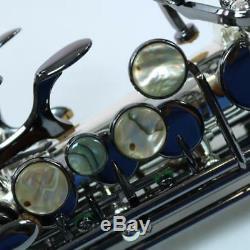 Nouveau La Sax Big Lip X Sax Soprano Corps Argenté Avec Liste De Clés Noires 3 799,00 $