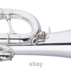 Nouveau Levante Lv-tr6301 Professional Concert Series Bb Trompette D'argent + Case