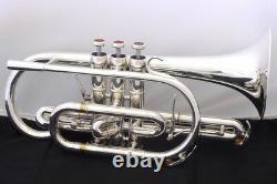 Nouveau Marque Adams Cornet Modèle Sélectionné Trompette En Plaque D'argent