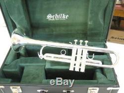 Nouveau Schilke Bb Grand Modele X3 Bore Trompette D'argent Plaque X3