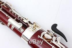 Nouveau Yinfente Basson C Tone Clés Corps Érable Argenté Plaqué + Cas Libre # A19