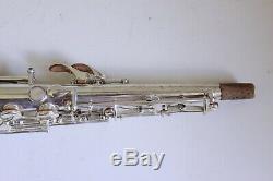 Old Low Pitch Argenté Saxophone De Buescher C